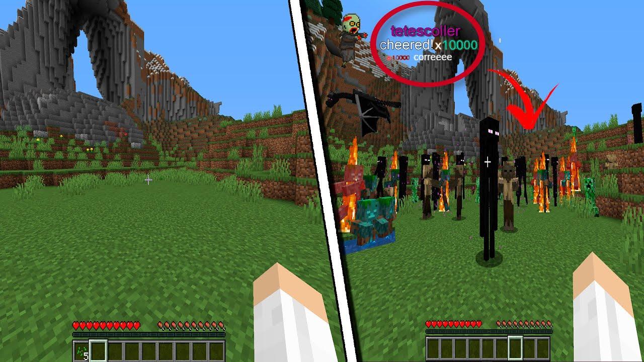 minecraft só que o chat controla o mundo