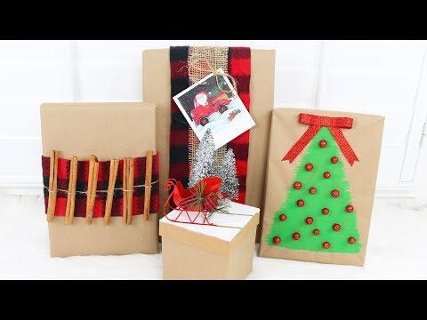 DOLLAR TREE DIY CHRISTMAS GIFT WRAPPING IDEAS