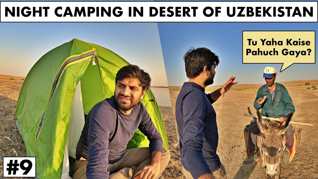 INDIAN CAMPING IN THE DESERT OF UZBEKISTAN - Near KAZAKH Border