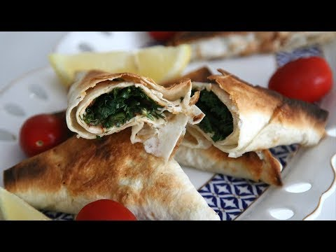 Lavash Herb Triangles - Armenian Cuisine - Heghineh Cooking Show