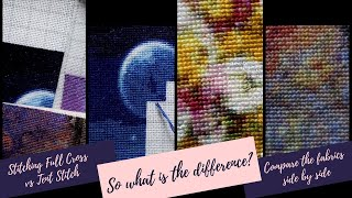 So what is the difference? Let's compare Full Cross vs Tent Stitch side by side