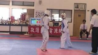 陳詩欣vs高中生:2003年國立台灣體育大學移地訓練跆拳道比賽實況