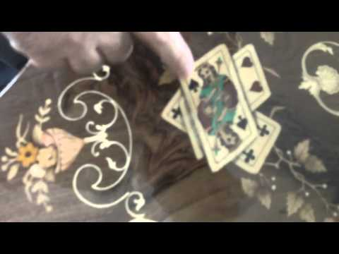 Antique Marquetry Games Table AWESOME