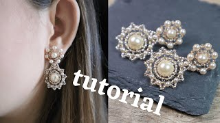 Glass pearls bead earrings tutorial | Bead earrings tutorial | Bead tutorial