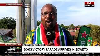 Springboks arrive in Orlando stadium