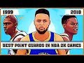 Best Point Guards in NBA 2K Games [NBA 2K - NBA 2K18]