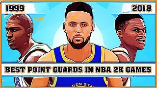 Best Point Guards in NBA 2K Games [NBA 2K - NBA 2K18]