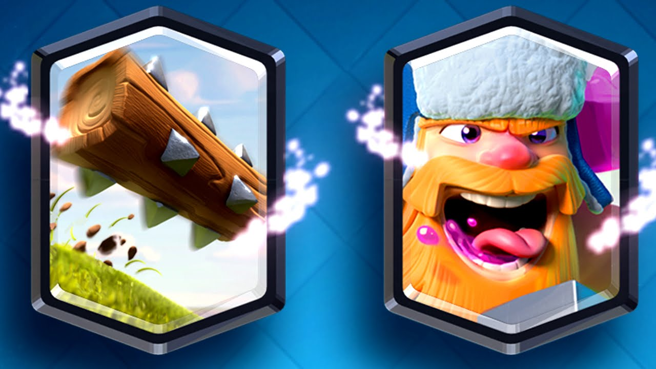 Clash Royale - NEW UPDATE! Lumberjack & Log (New Legendary Cards ...