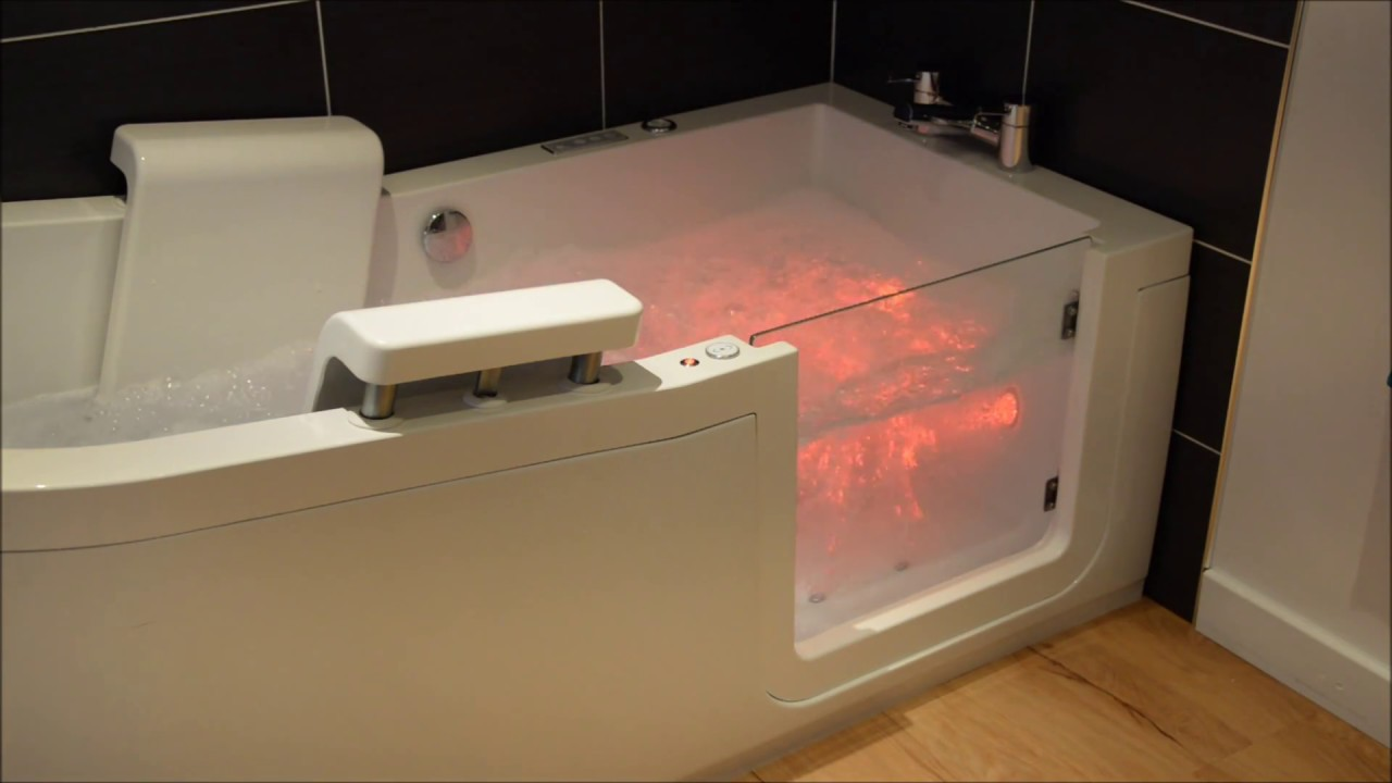 Ellipse walk-in bath with reclining seat - YouTube