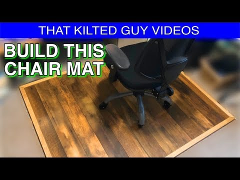 BUILD a Wooden Office Chair Floor Protector !  Lasts Forever!