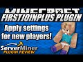 How to add settings for new players with FirstJoinPlus Plugin