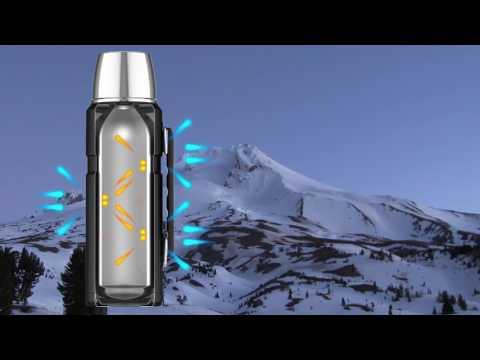 Genuine Thermos Brand Vacuum Insulation Technology Video