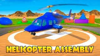 Big Helicopter Assembly Learn Colors for Children. DIY for Kids. Learning Cartoons