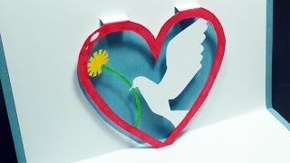 Download How To Make A Love Dove Pop Up Card Free Template