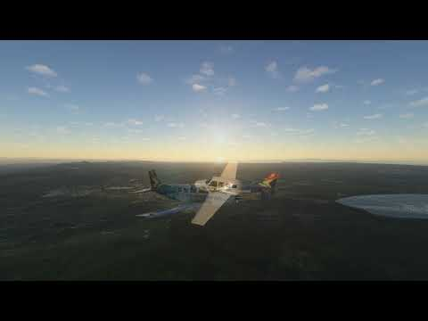 Sightseeing on South Africa's Garden Route. Powered by Microsoft Flight Simulator 2020.