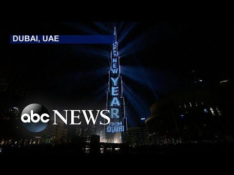 Dubai, UAE Celebrates the Start of 2018