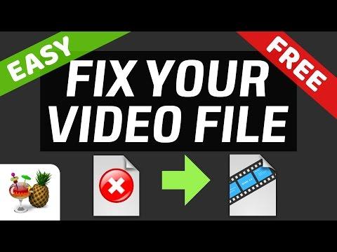 FREE Fix Video File MP4 AVI MPG by RE-ENCODING in Handbrake!