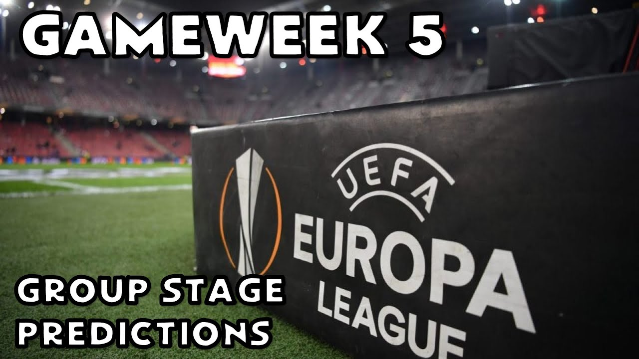 2020 21 Europa League Group Stage Predictions Matchday 5 Youtube