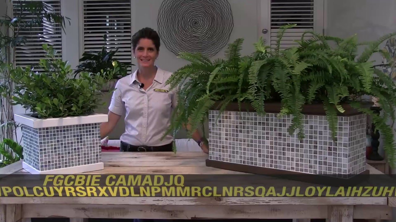 IDEAS CONCRETAS Cmo hacer una jardinera decorativa con pega y
