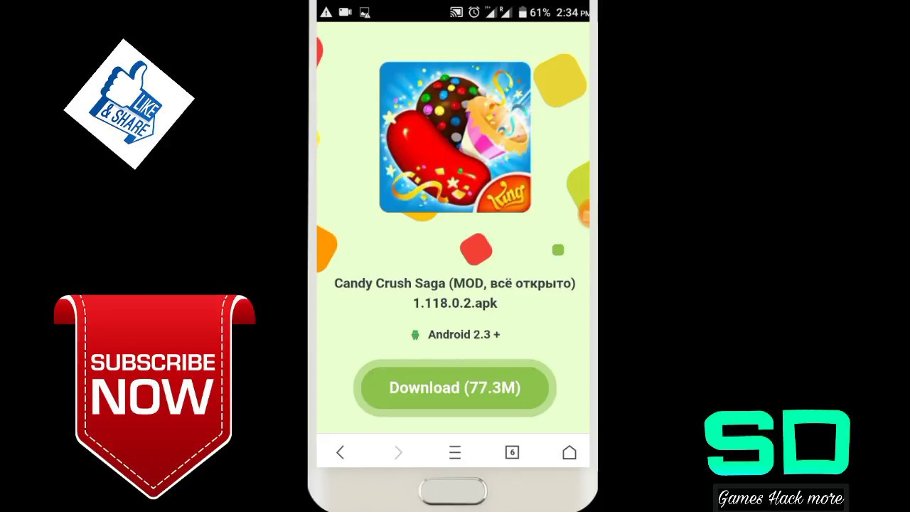 candy crush mod apk android 1
