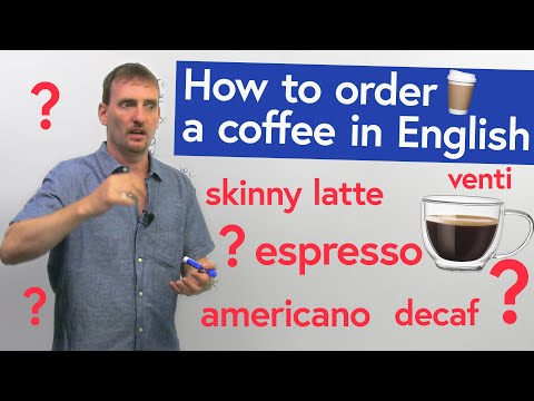 REAL ENGLISH: Going to the COFFEE SHOP