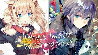 Nightcore Tongue twister Switching vocal.mp3