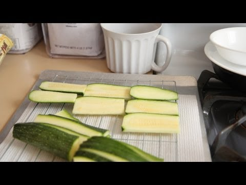 Oven Fried Zucchini Recipe (8.15.12 - Day 3) Vegan, Vegetarian