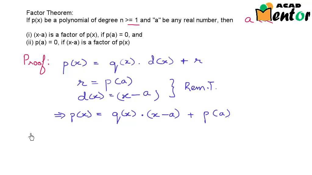 929 Factor theorem Polynomials Class 9 CBSE Mathematics – Factor Theorem Worksheet