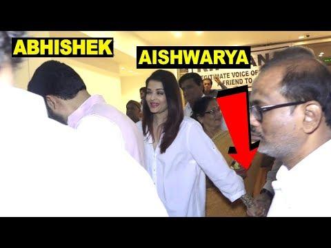 Aishwarya Rai Holding Stranger's Hand with Abhishek Bachchan