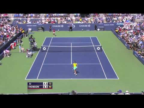 Li Na Vs Laura Robson US Open 3rd Highlights