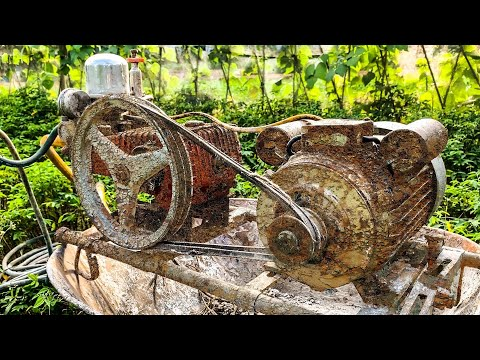 restoration-high-pressure-water-jet-cleaners-|-restore-old-electric-motor.