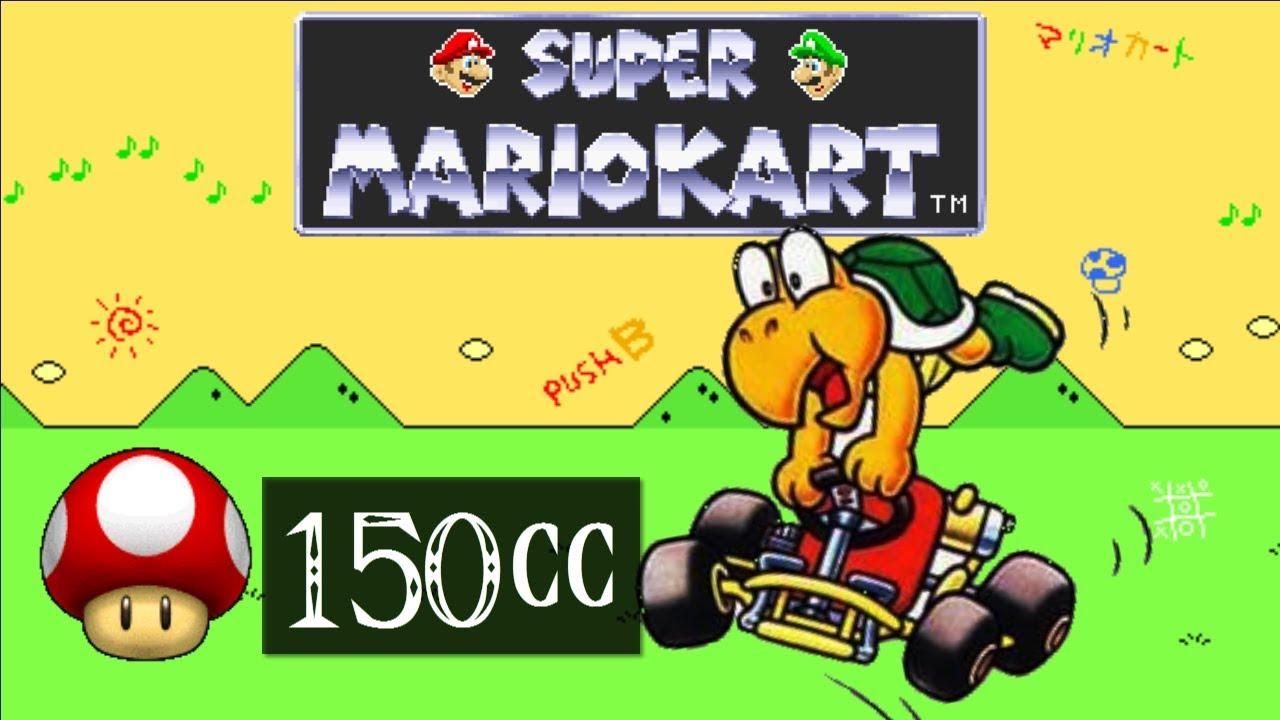 Super Mario Kart Snes Part 63 150cc Mushroom Cup Koopa
