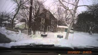Plowing in a 7.3 dump truck