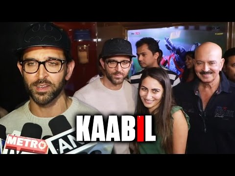 KAABIL - Hrithik Roshan Visits PVR Cinemas To Catch PUBLIC R