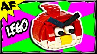 Custom Lego Angry Birds RED MOC - Animated Review with Building Instructions