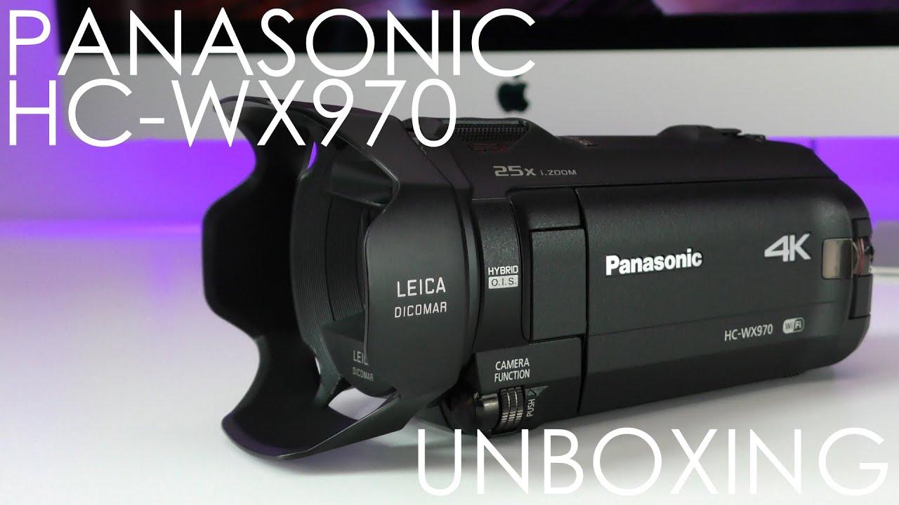 Panasonic HC-WX970 4K Ultra HD Video Camera Unboxing & First Look