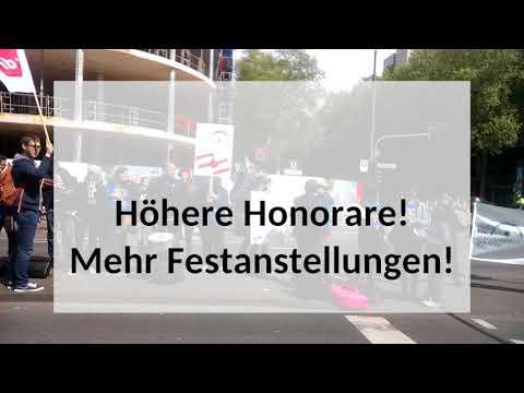 Demonstration am 1. Mai 2018, Tag der Arbeit – Forum für Honorarkräfte der RMS Köln