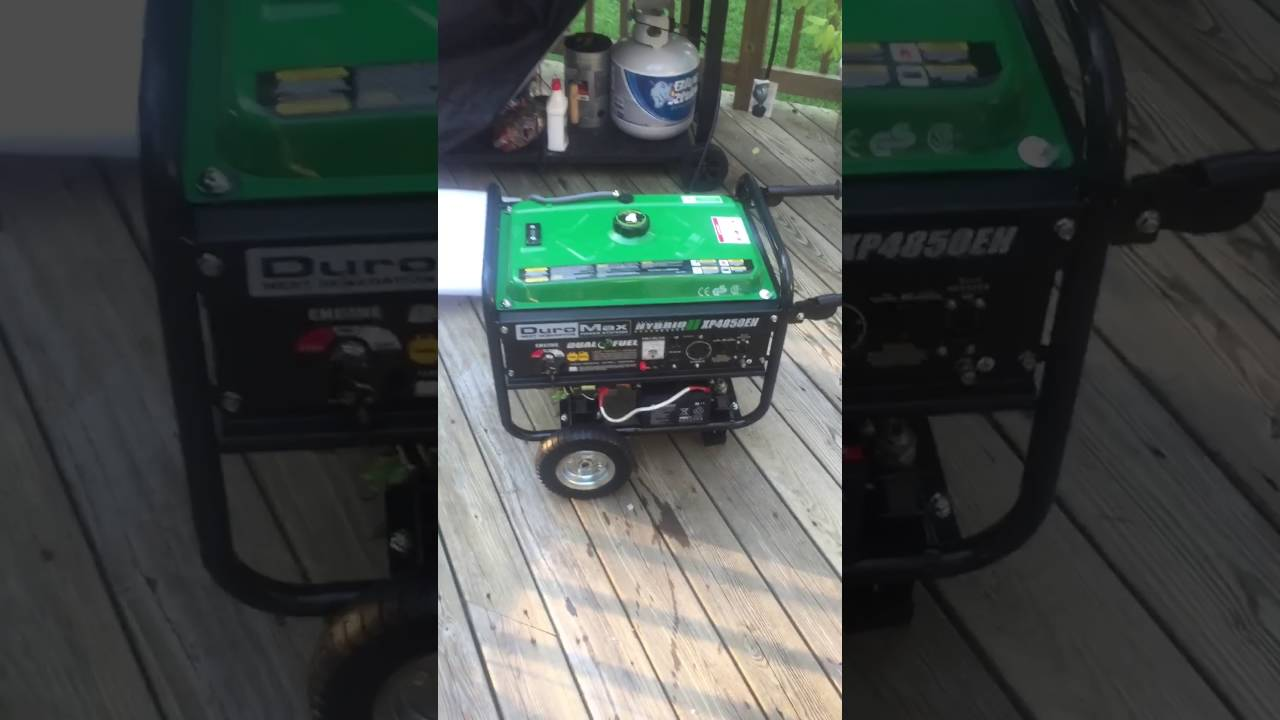 duromax hybrid xp4850eh generator youtube