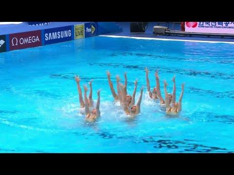 Российские синхронистки завоевали золото чемпионата мира в произвольной программе.