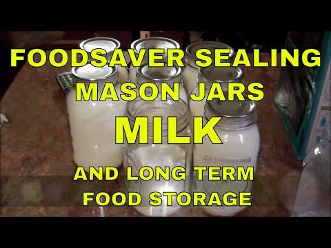 Foodsaver Sealing Mason Jars~Milk And Long Term Food Storage