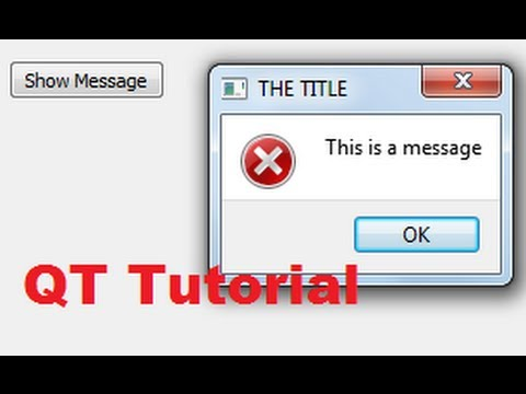 QT C++ GUI Tutorial 4- Show Messages in Messagebox (question, information,  critical, warning, etc  )