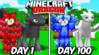 I Survived 100 Days TAMING DRAGONS in Minecraft!