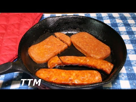 Portuguese Sausage Spam Review~Linguica Sausage Vs Portuguese Sausage Flavor Spam Canned Lunch Meat
