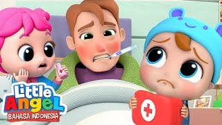 Ayah Sakit, Dokter Kecil Akan Merawatmu! | Lagu Anak | Little Angel Bahasa Indonesia