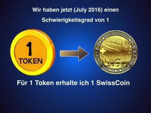 SwissCoin  Wie funktioniert das mit dem Mining und Splits und Token