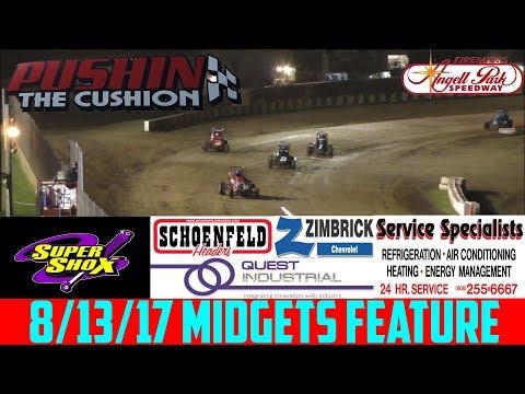 Angell Park Speedway - 8/13/17 - Badger Midgets - Feature