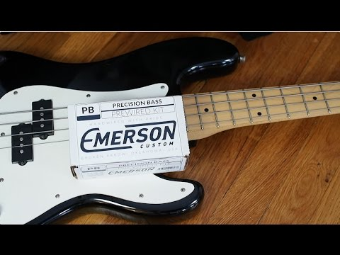 Emerson Pre-Wired Fender P-Bass Kit - YouTube