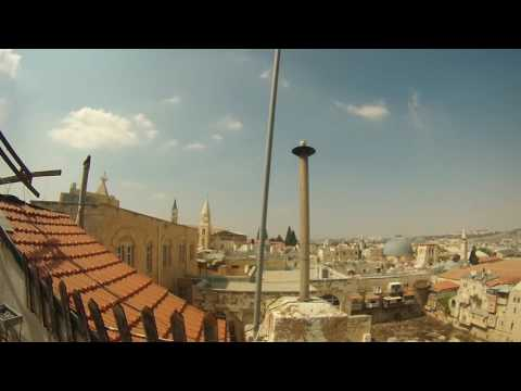 1 Minute Israel: Jerusalem Old City From Roof Of Petra Hotel