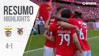 Highlights   Resumo: Benfica 4-1 Santa Clara (Liga 18/19 #34)