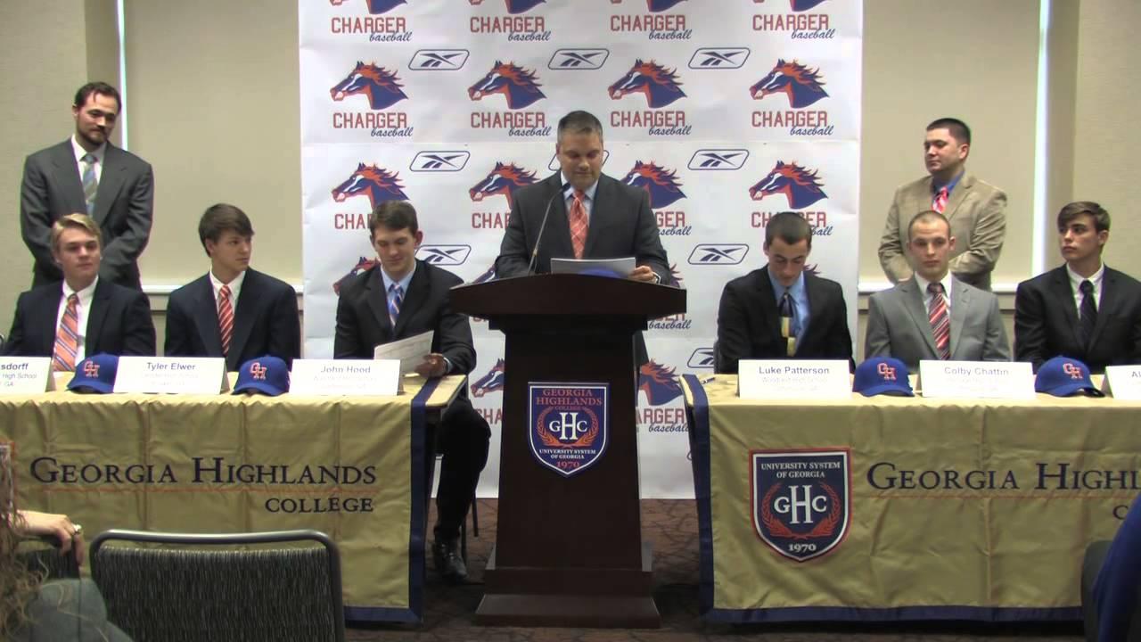 GHC Baseball Press Conference (Georgia Highlands College)